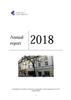 Annual report 2018 of the Competition Council in English